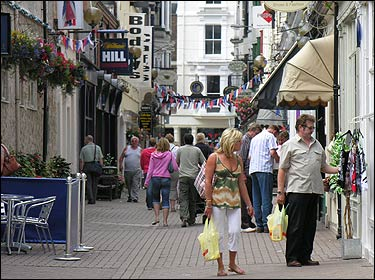 Shoppers in Bar Street, Scarborough