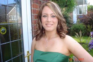 Sinead on her way to the Prom!