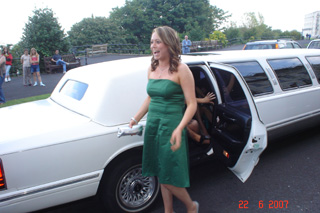 Sinead arriving at the Prom.